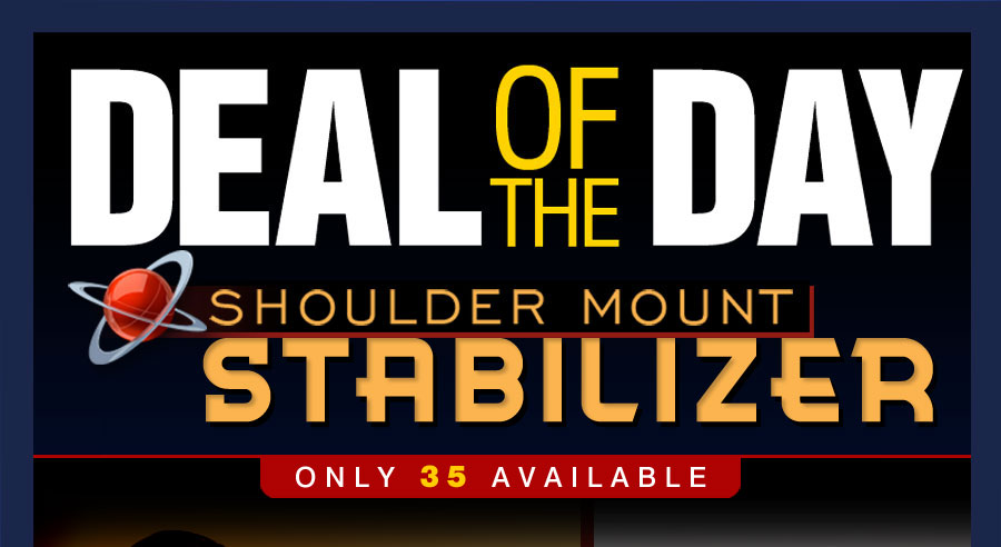 Get smoother video and less muscle fatigue when using this lightweight 2-point stabilizer