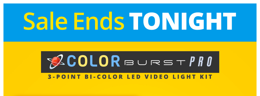A complete 3-point kit with super-bright LED lights, stands, batteries, filters & more.